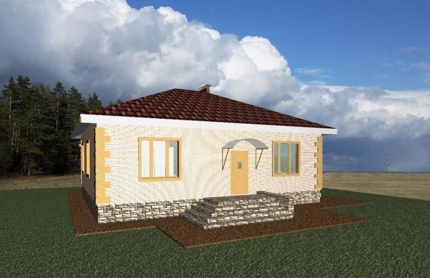 проекты одноэтажных домов с подвалом фото входящие